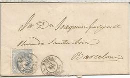 BERGA A BARCELONA 1871 - Cartas