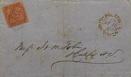 Nouveau Brunswick (New Brunswick). SG1 3p Rouge 1851 Sur Lettre De 1858. - Nouveau-Brunswick