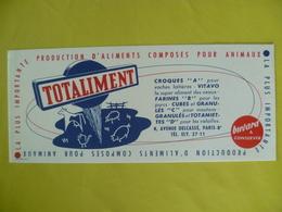 Buvard   Aliments Composés Pour Animaux TOTALIMENT - Blotters