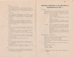 Ecole Militaire Inter-Armes / La Patrouille / Conseils De Déplacement, Progression De Nuit.../ Memento / 2 Documents - Militaria