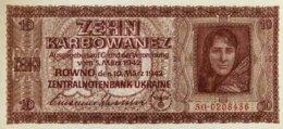 German Occupation/Ukraine 10 Karbowanez, P-52 (1942) - UNC - [ 9] Duitse Bezette Gebieden