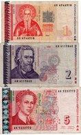 BULGARIA 1,2,5,LEVA 1999  P-114,115,116 - Bulgarie