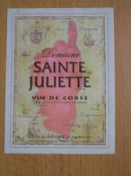 ETIQUETTE VIN DE CORSE DOMAINE SAINTE JULIETTE - Rouges