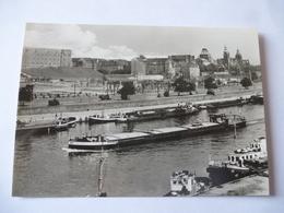 POLOGNE : SZCZECIN Péniche Dans Le Port Sur L'ODER - Voir Les 2 Scans - Poland