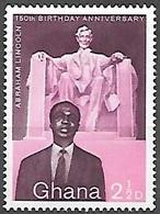 1959 Lincoln, 2-1/2d, Mint Light Hinged - Ghana (1957-...)