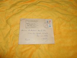 ENVELOPPE DE 1961. / TCHAD. CACHET FORT LAMY. FLAMME PREMIERE LIAISON AIR FRANCE PAR QUADRIREACTEUR BOEING - Chad (1960-...)