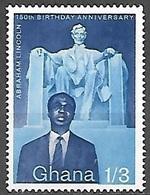 1959 Lincoln, 1sh3d, Mint Light Hinged - Ghana (1957-...)