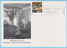 J.M.19 - Malte - N° 22 - Oblitération - Compositeur - R. Stolz - Music