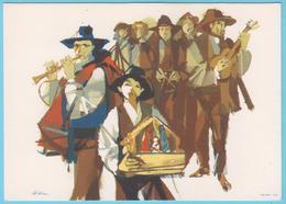 J.M.19 - Portugal - N° 23 - Entier Postal - Musiciens - Instruments De Musique - Triangle - Guitare - Flûte - Music