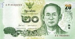 THAILAND 20 บาท (BAHT) ND (2013) P-118a UNC SIGN. 84 [TH181a] - Thailand