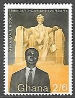 1959 Lincoln, 2sh6d, Mint Light Hinged - Ghana (1957-...)