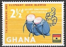 1959 Independence, 2-1/2d, Used - Ghana (1957-...)