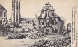 BELGIQUE  MALINES. GUERRE 14-18 . ASPECT D'UN QUARTIER DE LA VILLE. TEXTE 1915 - Guerre 1914-18