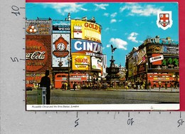 CARTOLINA VG REGNO UNITO - LONDON - Piccadilly Circus And The Eros Statue - 10 X 15 - ANN. 1984 HOUNSLOW CEPT - Piccadilly Circus