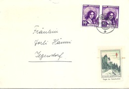 "Brief  Ambulant - Jegenstorf  (Vignette  ""Schloss Wartenfels - Tuberkulose)         1939 - Briefe U. Dokumente"