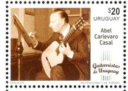 URUGUAY,2018, MNH,MUSIC, GUITARS, URUGUYAN GUITARRISTS, ABEL CARLEVARO CASAL, 1v - Music