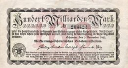 Germany/Mecklenburg 100 Milliarden Mark, (1923) - EF - [ 2] 1871-1918 : German Empire