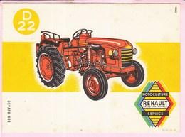 Buvard Tracteur RENAULT D22 - Farm