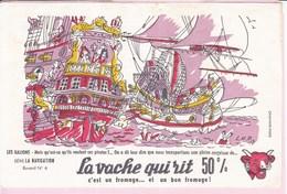 Buvard Vache Qui Rit Série Navigation 6 Galions - Dairy