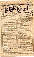 LE CAFE CONCERT Bulletin Périodique Du Nouveau Répertoire Des Concerts De Paris N° 155 Février 1929 Avec Supplément - Other Products