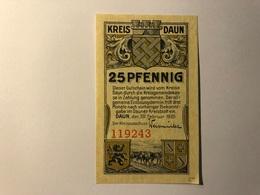 Allemagne Notgeld Daun 25 Pfennig - [ 3] 1918-1933 : Weimar Republic