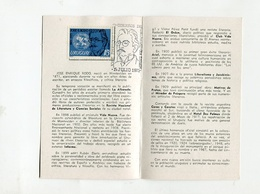 TARJETA BIOGRAFIA DE JOSE ENRIQUE RODO 1871-1971 CORREO DEL URUGUAY DIA DE EMISON -LILHU - Uruguay