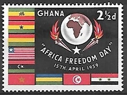 1959 Africa Freedom Day, 2-1/2d, Mint Hinged - Ghana (1957-...)