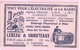 Buvard Radio électricité Vaux Sur Laon - Blotters