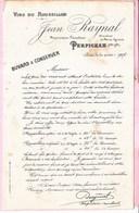 Buvard Vin Du Roussillon Perpignan Ancien 1907 - Buvards, Protège-cahiers Illustrés