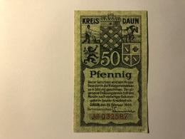 Allemagne Notgeld Daun 50 Pfennig - [ 3] 1918-1933 : Weimar Republic