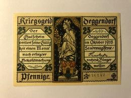 Allemagne Notgeld Deggendorf 25 Pfennig - [ 3] 1918-1933 : Weimar Republic