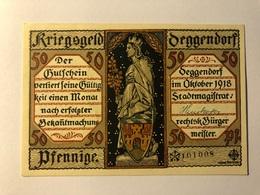 Allemagne Notgeld Deggendorf 50 Pfennig - [ 3] 1918-1933 : Weimar Republic