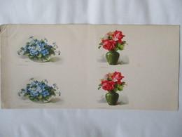 C. KLEIN FLEURS BLEUES ET ROSES DANS VASES (DECOUPAGE) 23,5cm/12cm - Klein, Catharina