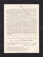CHATEAU DE COUSSAT PAR SERVIAN (HERAULT) AVIS DE DECES DE Mme CHERISEY COMTESSE JOSEPH LE COURT DE BERU (1931) - Overlijden