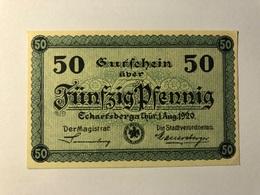 Allemagne Notgeld Escharsberga 50 Pfennig - [ 3] 1918-1933 : Weimar Republic