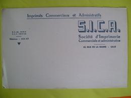 Buvard  SICA Société D'imprimerie A LILLE - Blotters