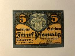Allemagne Notgeld Eisleben 5 Pfennig - [ 3] 1918-1933 : Weimar Republic
