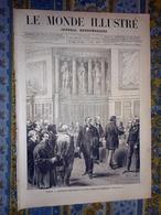 LE MONDE ILLUSTRE 05/02/1876 BOULOGNE SUR MER GARE MARITIME PHILADELPHIE CALCUTTA HERZEGOVINE CHARLEROI GREVES HAINAUT C - Newspapers