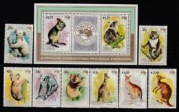 NIUE - N°445/9+A 11/13+Bloc N° 73 ** (1984) Animaux : Marsupiaux - Niue