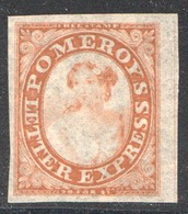 Pomeroy's Letter Express  New York   5 Cents  Red  On Thin Pelure Paper  Scott 117L9 - 1845-47 Emissions Provisionnelles