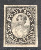 Pomeroy's Letter Express  New York   5 Cents Black On Thin Pelure Paper  Scott 117L8 - 1845-47 Emissions Provisionnelles