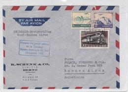 FIRST FLIGHT SWISSAIR GENF~BUENOS AIRES 1947-SUISSE-BLEUP - Switzerland