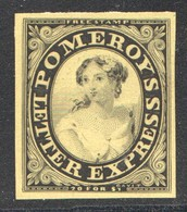 Pomeroy's Letter Express  New York   5 Cents  Black On Bright Yellow   Unissued* - 1845-47 Emissions Provisionnelles