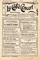 LE CAFE CONCERT Bulletin Périodique Du Nouveau Répertoire Des Concerts De Paris N° 156 Mars 1929 - Other Products