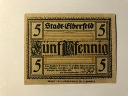 Allemagne Notgeld Elberfeld 5 Pfennig - [ 3] 1918-1933 : Weimar Republic