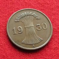 Germany 1 Reichspfennig 1930 A KM# 37 Lt 696  Alemania Allemagne Alemanha - Germany
