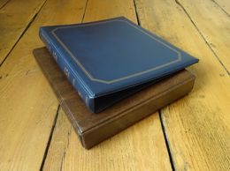 2 X High Quality Luxury Soft Cushioned Covered Album Folders/Ring Binders. - Albums & Binders