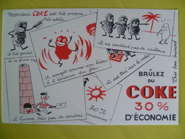 Buvard  Monsieur COKE Brulez Du Coke 30% D'économie - Blotters