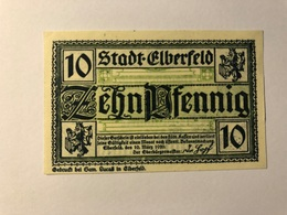 Allemagne Notgeld Elberfeld 10 Pfennig - [ 3] 1918-1933 : Weimar Republic