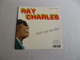 POCHETTE  DE PRESENTATION VINYLE 45 T RAY CHARLES - Accessoires, Pochettes & Cartons